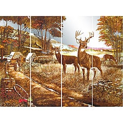Deer Family Wall Mirror