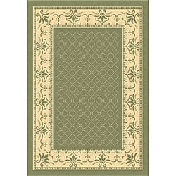 Safavieh Indoor/ Outdoor Royal Olive/ Natural Rug (5'3 x 7'7)