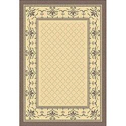 Safavieh Indoor/ Outdoor Royal Natural/ Brown Rug (5'3 x 7'7)