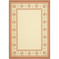 Safavieh Indoor/ Outdoor Royal Natural/ Terracotta Rug (5'3 x 7'7)