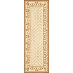 Safavieh Indoor/ Outdoor Royal Natural/ Terracotta Runner (2'4 x 6'7)