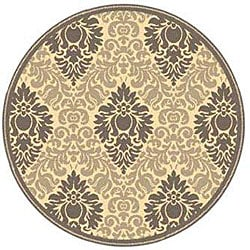 Safavieh Indoor/ Outdoor St. Barts Natural/ Brown Rug (5'3 Round)