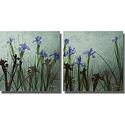 Patricia Pinto 'Blue Iris I & II' 2-piece Unframed Art Set 6541012