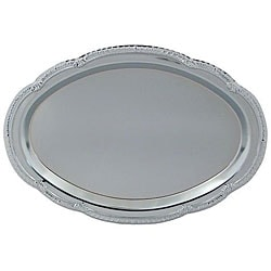 American Metalcraft 15 in x 10 in. Oval Chrome Tray 6553963