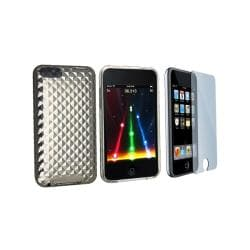 INSTEN Anti-scratch Screen Protector and Shock-absorbent iPod Case Cover for iPod Touch