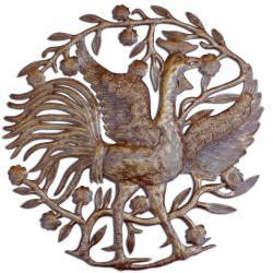 Metal 'The Rooster' Oil Drum Art (Haiti)