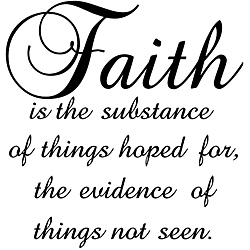 Design on Style 'Faith is the Substance of Things Hoped for' Black Vinyl Wall Art Quote