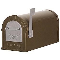 Bronze/ Silver Eagle Heavy Duty Rural Mailbox