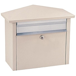 Beige Wall- or Post-mount Mail House Mailbox