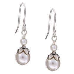 Charming Life Sterling Silver June Birthstone White Crystal Earrings