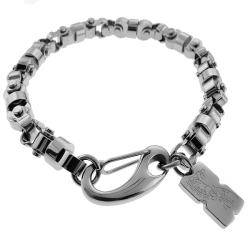 Black and Blue Jewelry Stainless Steel Men's Chain Bracelet