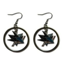 San Jose Sharks NHL Hoop Logo Earrings 6654616