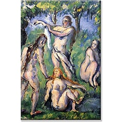 Paul Cezanne 'Bathers' Canvas Art