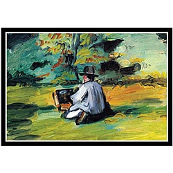 Paul Cezanne 'Painter at Work' Framed Art Print