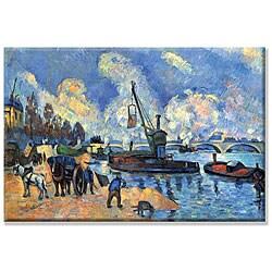Paul Cezanne 'Seine at Bercy' Canvas Art