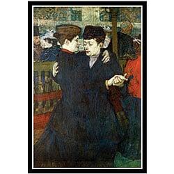 Toulouse-Lautrec 'Dancing a Valse' Framed Art Print