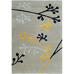 Safavieh Handmade Soho Golden Vine Grey New Zealand Wool Rug (2' x 3')