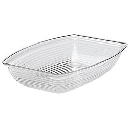 Cambro 9-in x 12-in Clear Ribbed Salad Bowl 6682904
