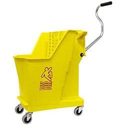 Continental Manufacturing 35-quart Yellow Unibody Mop Bucket