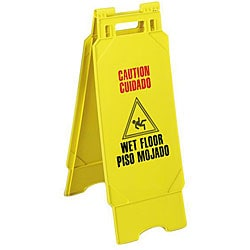 Yellow Wet Floor Caution Sign