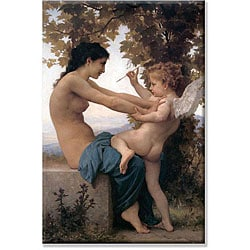 Bouguereau 'A Young Girl Defending herself against Eros' Small Art Print