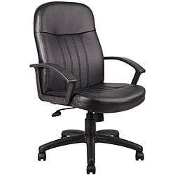 Boss Executive Black Bonded Leather Chair