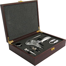Quest Corkscrew Set in Wood Presentation Box