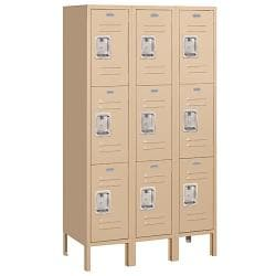 Salsbury Industries Tan Triple-Tier Standard Personal Lockers