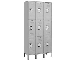 Salsbury Industries 63000 Series Gray Steel Triple-Tier Standard Lockers