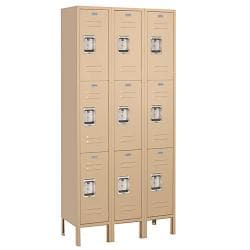 Salsbury Industries Lock-Compatible Tan Triple-Tier Standard Private Lockers