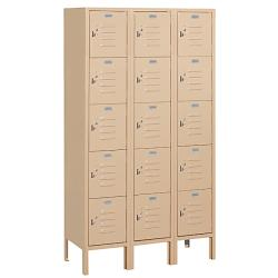 "Salsbury Industries Tan Box-Style Standard Lockers (36"" x 66"" x 15"")"