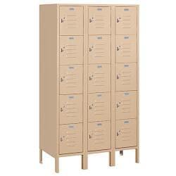 """Salsbury Industries Tan Box-Style Standard Lockers (36"""" x 66"""" x 18"""")"""