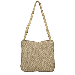 Made in Italy Desmo Leather Cream 'Intrecciati' Tote