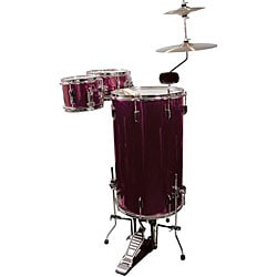 GP Percussion Wine Red 3-piece Cocktail Drumset