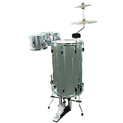 GP Percussion Silver 3-piece Cocktail Drumset