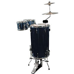 GP Percussion Midnight Blue 3-piece Cocktail Drumset