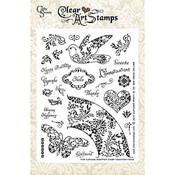 Crafty Secrets Cupcake Party Large Clear Art Stamp Sheet