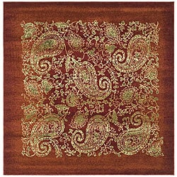 Safavieh Lyndhurst Collection Paisley Red/ Multi Rug (6' Square)