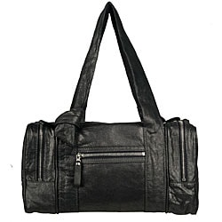 Made in Italy Desmo Dark Grey Nappa Bag