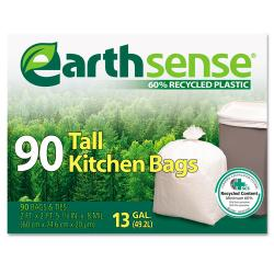 EarthSense Recycled 13-gallon White Can Liners (Pack of 90)