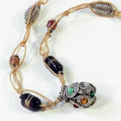 Recycled Car Tire New Again Necklace (Kenya)
