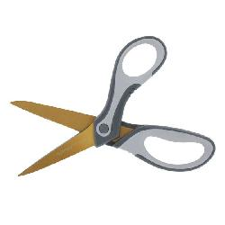 DuraSharp 500 Bent Titanium Knife-Edge Scissors (Pack of 6)