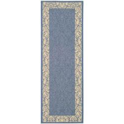 Safavieh Indoor/ Outdoor Kaii Blue/ Natural Runner (2'4 x 9'11)