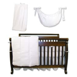 Trend Lab White Pique 6-piece Crib Bedding Set