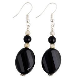 Silver Black Onyx Earrings (Thailand)
