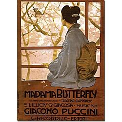 Giacamo Puccini 'Madam Butterfly' Canvas Poster