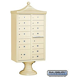 Salsbury 3300 Regency Decorative Cluster Mail Box Unit - USPS Access