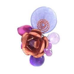 Purple Multi Stone Flower Cluster Ring (Thailand)