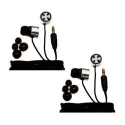 Nemo Digital Iron Cross Earbud Headphones (Case of 2)