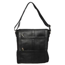 Royce Leather Vertical 16-inch Laptop Messenger Bag